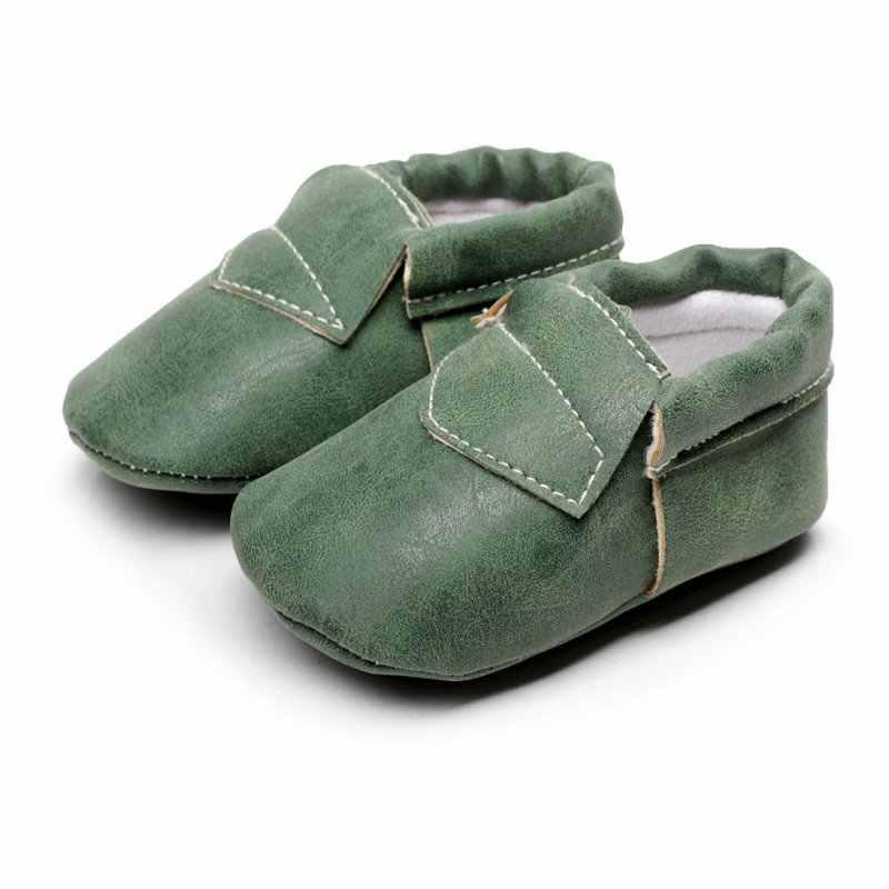 Искусственная замша кожа новорожденный мальчик девочка детские Мокасины Мягкие бахрома мягкая подошва Нескользящая обувь детская обувь новая