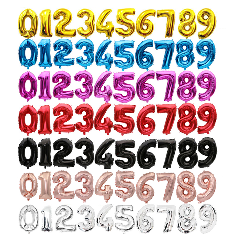 "Colorful Helium 40""//32/"" Birthday Party Number Foil Balloons 0123456789 Decor"