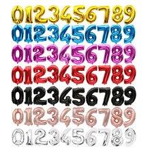 16 32 32 32 polegadas 0-9 número 9 cores disponíveis balões de folha globos dígitos balões decorações de festa de aniversário crianças balão de casamento
