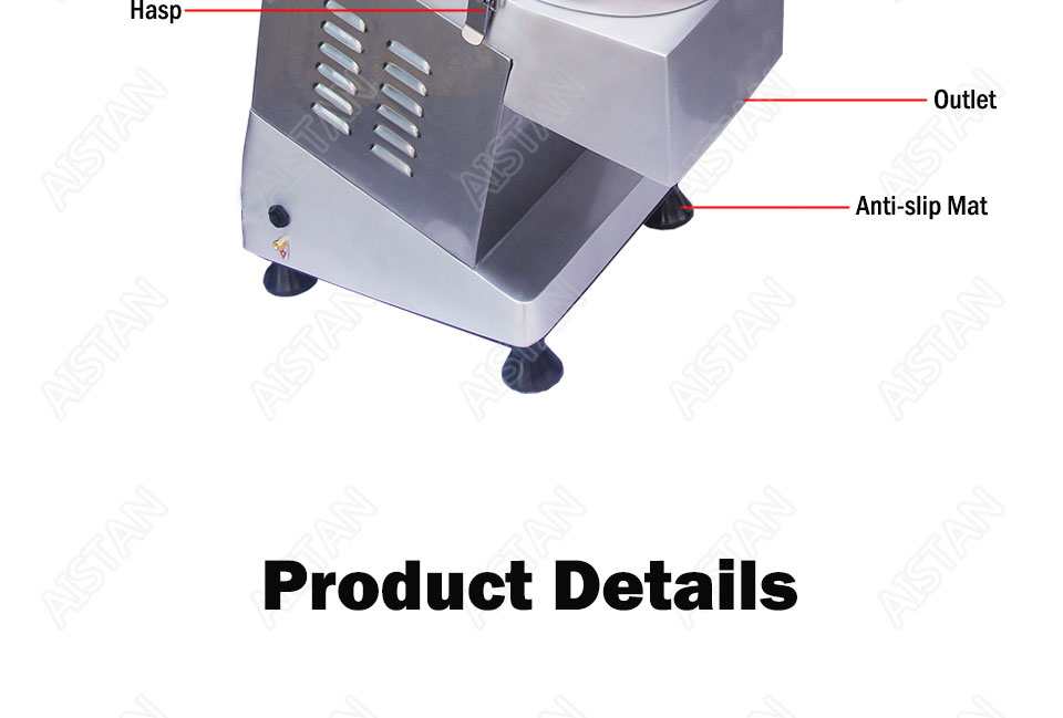 QC205 electric multi-purpose vegetable fruit cheese cutter dicing, cubing, slicing, stripped, grater slicer or shredded machine 12