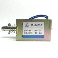 1PCS 10mm/80N Spring Plunger Push Pull Type Solenoid Electromagnet DC 12/24V 0.5A