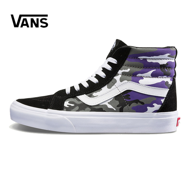 21a62ef49b Original New Arrival Vans Men s   Women s Classic Sk8-Hi Skateboarding Shoes  Sneakers Canvas Comfortable VN0A2XSBRK4