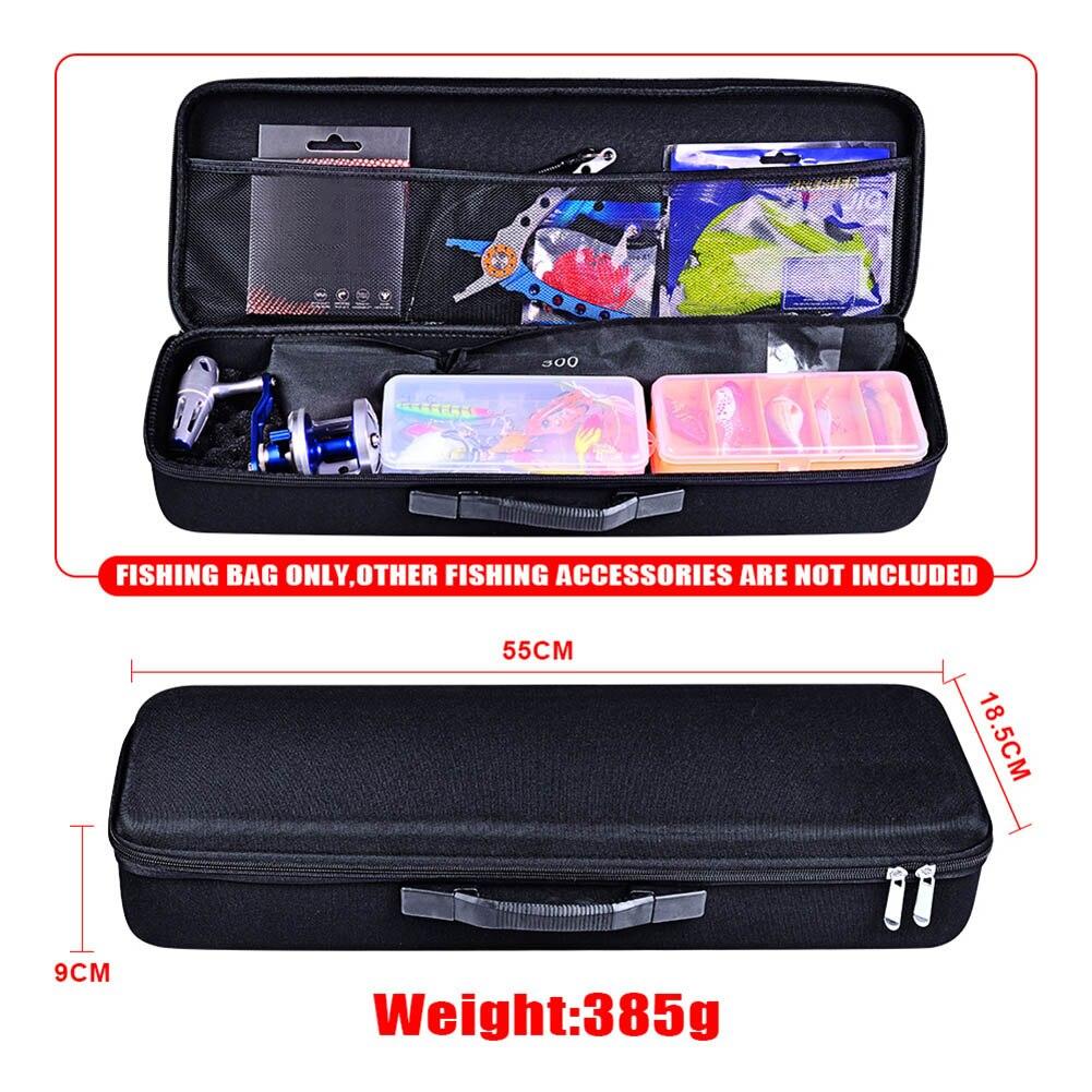 1 Pcs Tackle Storage Box Bag Case Double Zipper Fishing Rod Reel Bait Accessories BB55