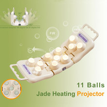 POP RELAX jade roller heating massager 11 balls foldable far infrared body pain relief handheld moxa therapy massage device P11