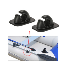 2pcs Paddle Clips Oar Rowing Pole Paddle Clips Holder Mount Patch for Inflatable Boat Rowing Boat Dinghy Kayaks Accessories