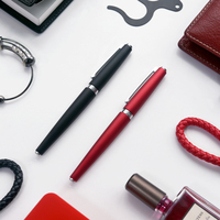 Silver Clip Black Blue Grey Red Fountain Pen KACO BALANCE Luxury Ink Pens For Student Teacher