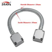 5YOA Cable eléctrico de lazo para puerta de Bloqueo de Control, cerrojo de acero inoxidable, funda de protección de montaje descubierto, Control de acceso