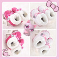 2015 New Girls Pink Super Warm Sweet Cute Hello Kitty Bow Winter Shoes Kids Newborn Baby Prewalker Boots First Walker Footwear