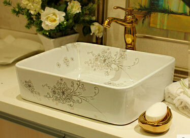 Increased square counter basin wash ceramic sanitary ware art washbasin