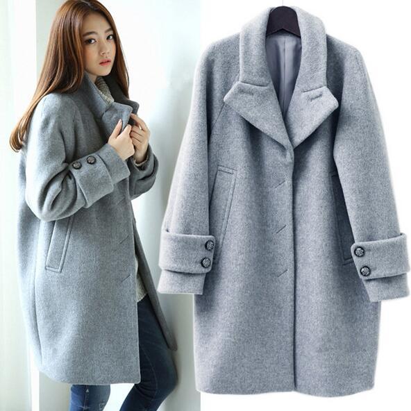 Abrigos lana mujer aliexpress