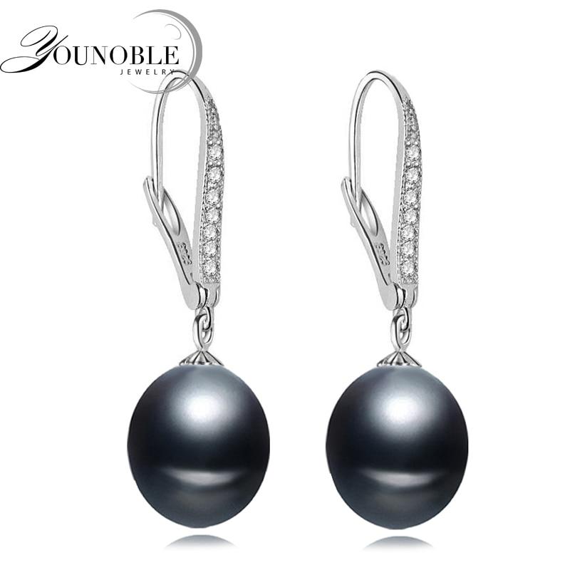 Красиві прісноводні перлинні сережки для жінок 925 срібні сережки, реальні весільні білі натуральні перлинні сережки срібний подарунок на день народження  t