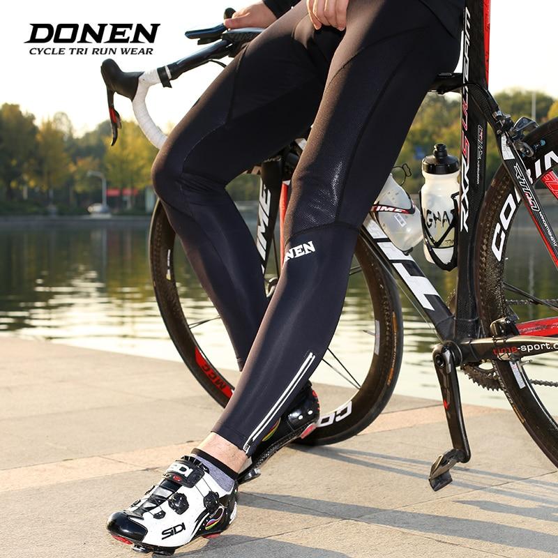 цена на DONEN Cycling long Pants Winter Coolmax 3D Gel Pad Bike Tights Ciclismo Pantalones Keep Warm Thermal MTB Bicycle Trousers