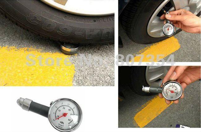 Free shipping, high precision metal delicate tire pressure, tire pressure gauge, Portable tire pressure monitoring table