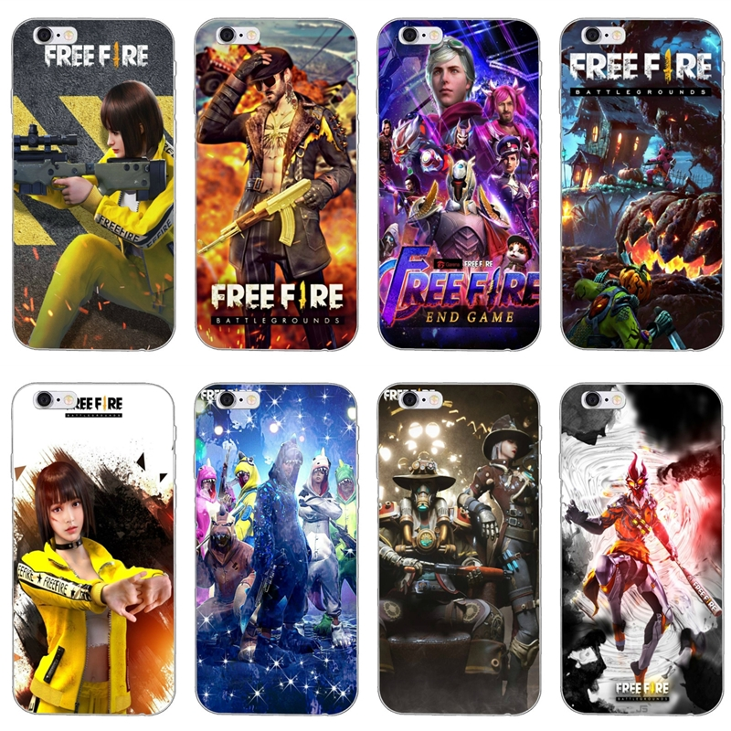 Free Fire Game Art Silicone Phone Case For LG G5 G6 G7 Q6 Q7 Q8 Q9 V20 V30 X Power 2 3 K4 K7 K8 K10 2017 For Oneplus 3T 5T 6T