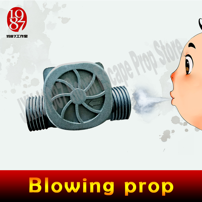 Real life room escape props blowing prop blow air for a period of time to unclock
