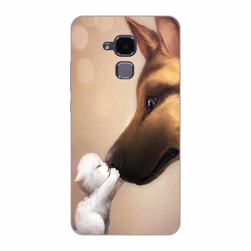 """Чехлы для Huawei Honor 7 Lite/GT3/GR5 Mini/Honor 5C 5,2 """"чехол для телефона с рисунком розы волка чехол Fundas Para"""