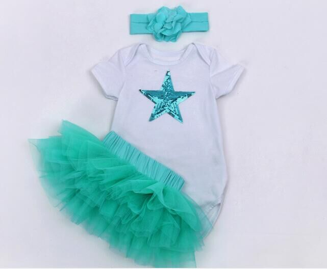 New Baby Girl Clothing Sets baby outfit sets Infant Easter Romper +Headband+Tutu Dress  3pcs Set  Bebes First Birthday Costumes baby girl infant 3pcs clothing sets tutu romper dress jumpersuit one or two yrs old bebe party birthday suit costumes vestidos