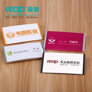 "Image 5 - 10 יחידות/1 מארז ABS 90*54 מ""מ Reap7004 תגי מגנט בעל תג כרטיס תג שם מגנטי מזהה עבודת מחזיקי כרטיס עובד"