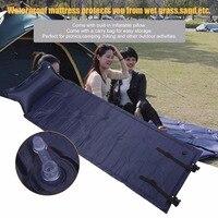 Self Inflatable Air Mattress Pillow Folding Sleeping Bag Bed Camping Hiking Outdoor Picnic Portable Survival Tool