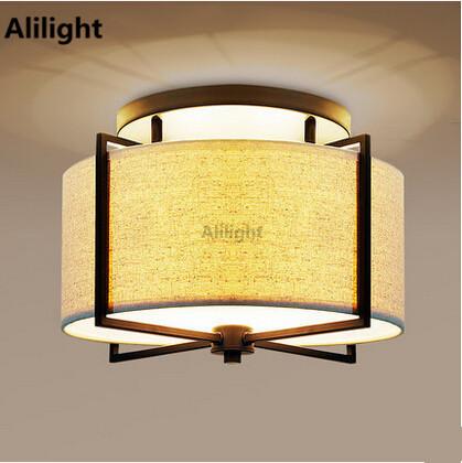 Lamparas De Techo Stoff Deckenleuchte Moderne Led Fr Wohnzimmer Lampenschirm Hngelampen Leuchte