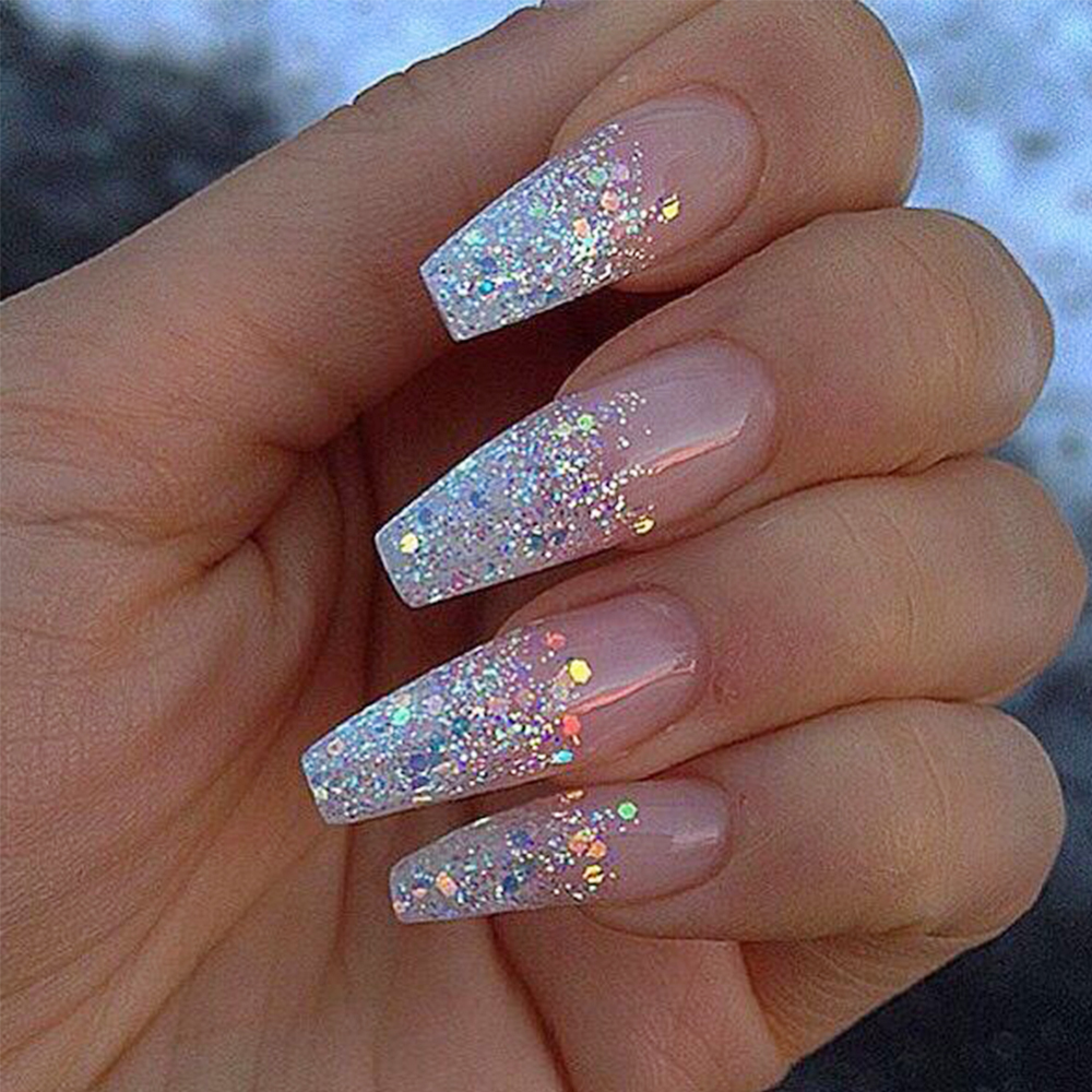 12 Colors 3D Shinny Nail Glitter Powder 3D Acrylic Gel Polish Flakes ...