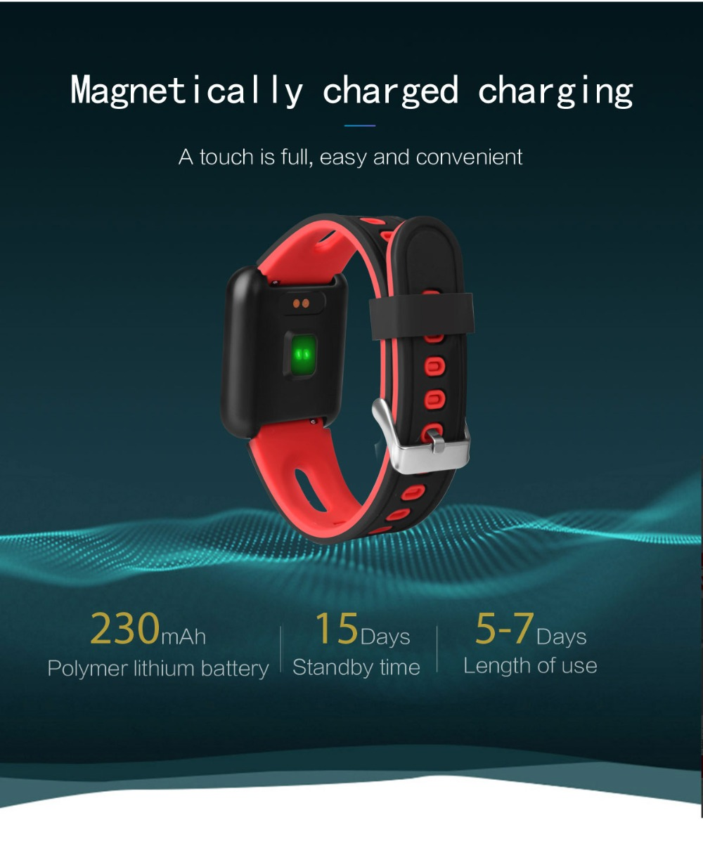 Smart Watch P68 Sports IP68 fitness bracelet activity tracker heart rate monitor blood pressure for ios Android apple iPhone 6 7 19
