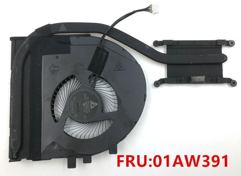 Original para lenovo thinkpad t460p t470p 01aw391 ventilador refrigerador do dissipador de calor