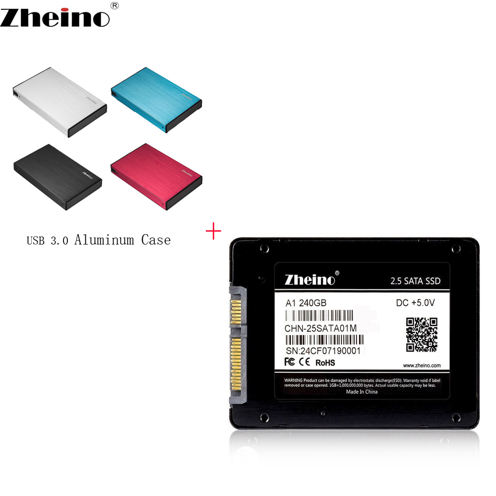 Zheino P2 USB3.0 Portable External 240GB SSD with Aluminum Case 2.5 SATA Solid State Drive Portable SSD External Hard Drive Disk kingfast ssd 128gb sata iii 6gb s 2 5 inch solid state drive 7mm internal ssd 128 cache hard disk for laptop disktop