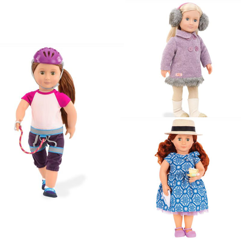 2pcs/lots Wholesale 18inch Doll Clothes Our Generation Baby Born Doll Clothes American Girl Doll Clothes PSC21 american girl doll clothes superman and spider man cosplay costume doll clothes for 18 inch dolls baby doll accessories d 3