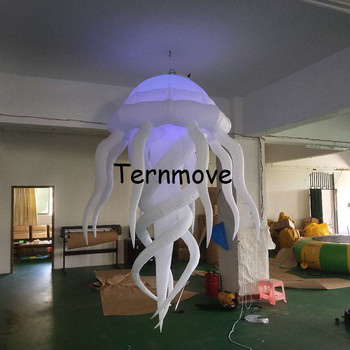 LED Lighting Giant jellyfish/ inflatable stage party night bar christmas decorative inflatable ball for sale Wedding decoration