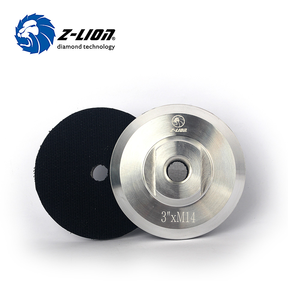 1PC Aluminum Base Backer Pad 7/'/' 5//8 or M14 Hook /& Loop Diamond Polishing Pads