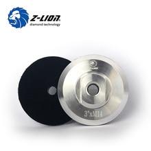 "Z-LION Aluminio Backer Pad 3 ""80mm M14 5/8-11 Patrocinador Titular para Pulidor Auto Agarre Back Up Pulido Pads Back Angle Grinder"