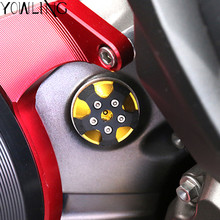 For DUCATI  Monster 821 1200 1200S DIAVEL Multistrada 1200 Motorcycle M20*2.5 Magnetic Engine Oil Filter Cup Plug Cover Screw cnc motorcycle engine oil filter cup screw connector cover m20 2 5 for kawasaki yamaha honda ducati monster 1200 2014 2016