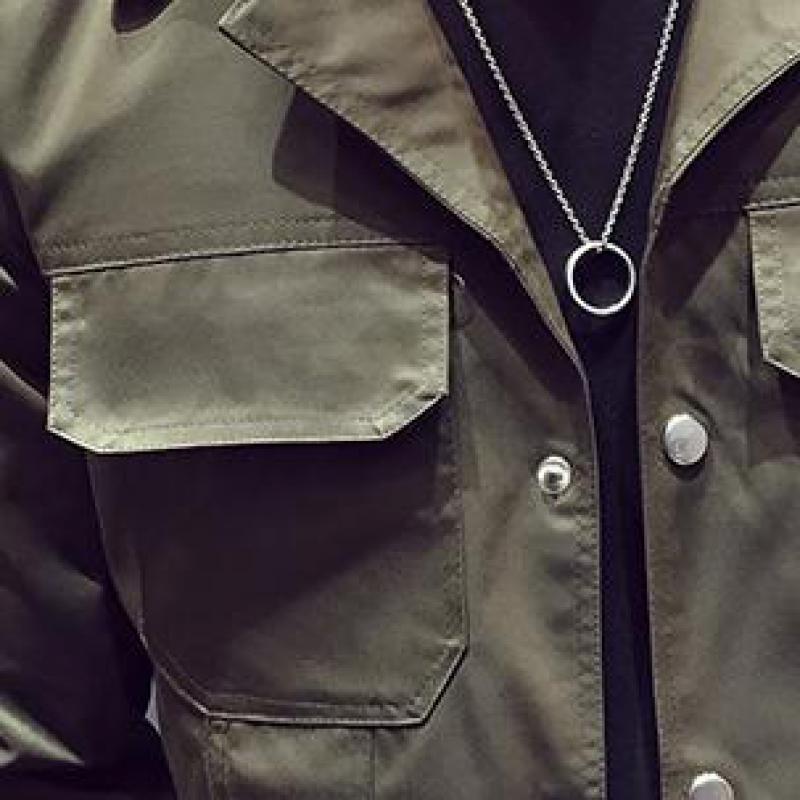 Sólido Green Casual Larga Chaqueta Personalizado Manga Gray breasted Multi De La Hombres army Juventud Single Traje Color bolsillo T4F7WE