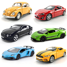 1/36 Scale Diecasts Vehicle Toys Muscle Car Vintage Car Simulation Pull Back Alloy Model Car Pull Back Toys For Boy Kids Gifts недорого