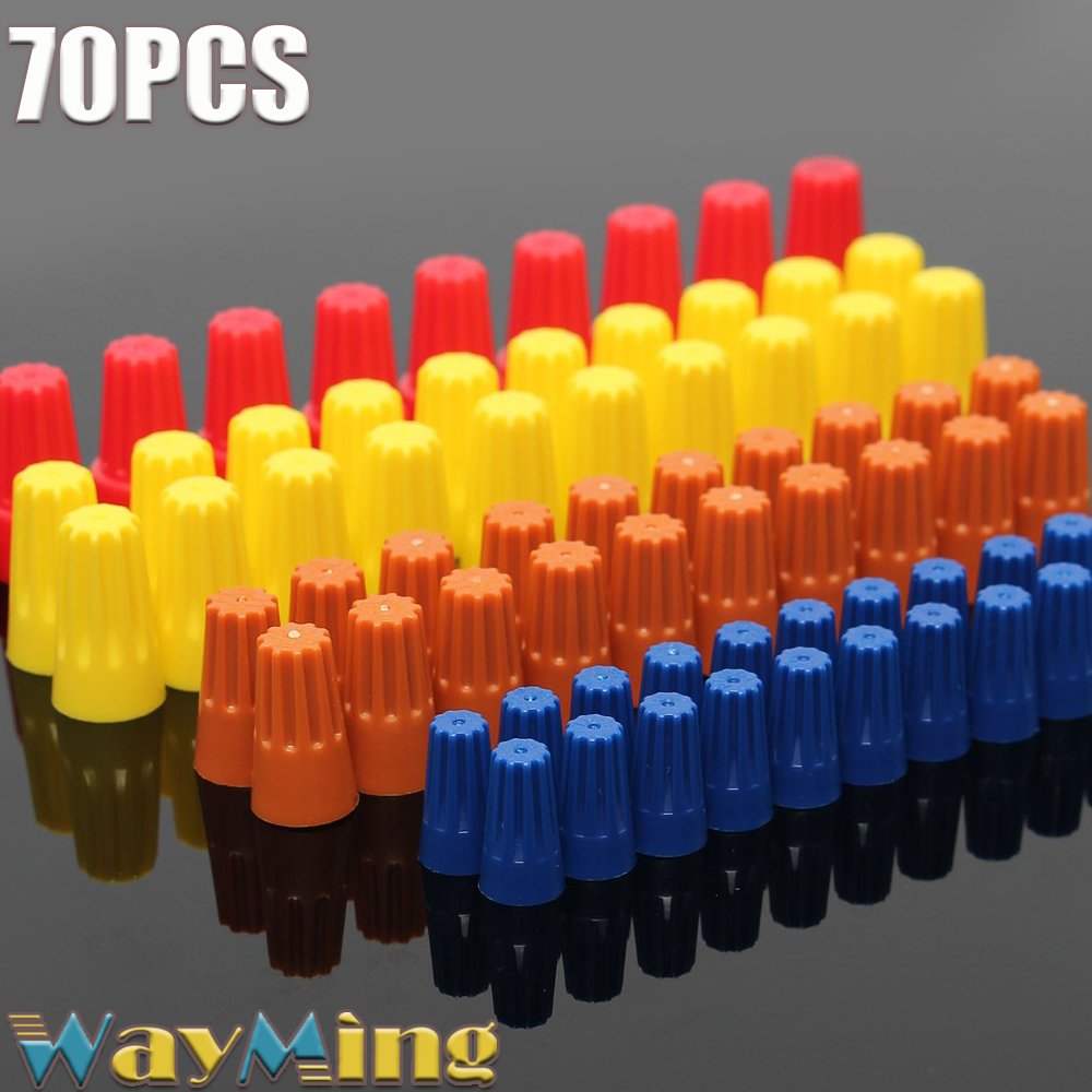 70PCS 22 14 18 10 AWG Electrical Wire Twist Nut Connector ...