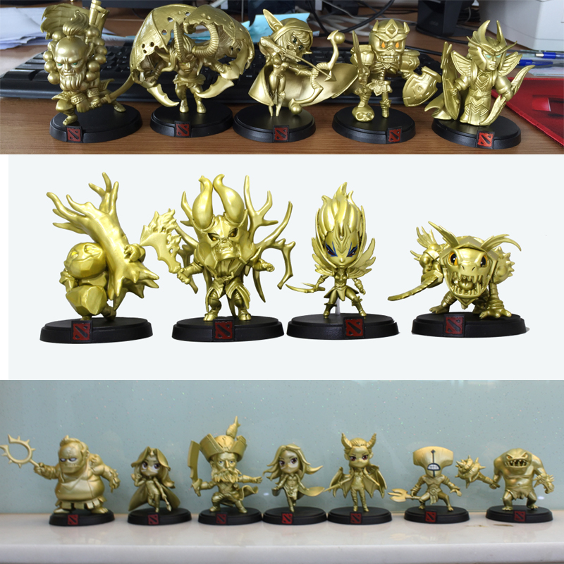 16styles Golden Dota 2 Global Official Limited Collection Game Action Figure Toys Boxed PVC Action Figures dota2 Toys street fighter v chun li bigboystoys with light action figure game toys pvc action figure collection model toys kids for gift