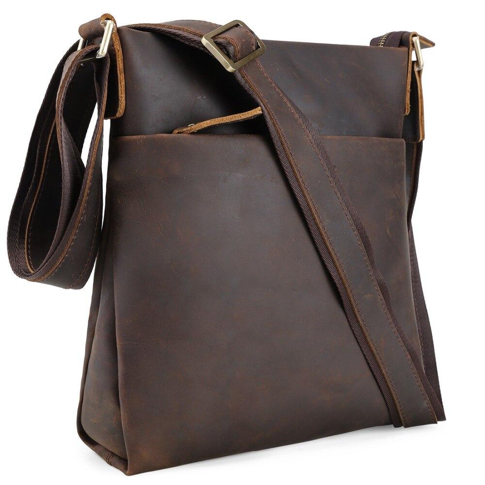 TIDING cuir Messenger sac à bandoulière Vertical sac à bandoulière pour hommes Simple sauvage Style Vintage 1176