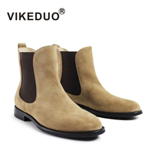 VIKEDUO In 2017 the new pure handmade comfortable against velvet leisure mens boots