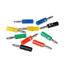 10 Pcs 5 Colors Wire Audio Speaker Cable Banana Plug Connectors 4mm Adapter L15(China)