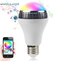 DVOLADOR Intelligent AC90V 240V 10W Audio Speakers Lamp Dimmable Speaker E27 LED RGB Light Music Bulb