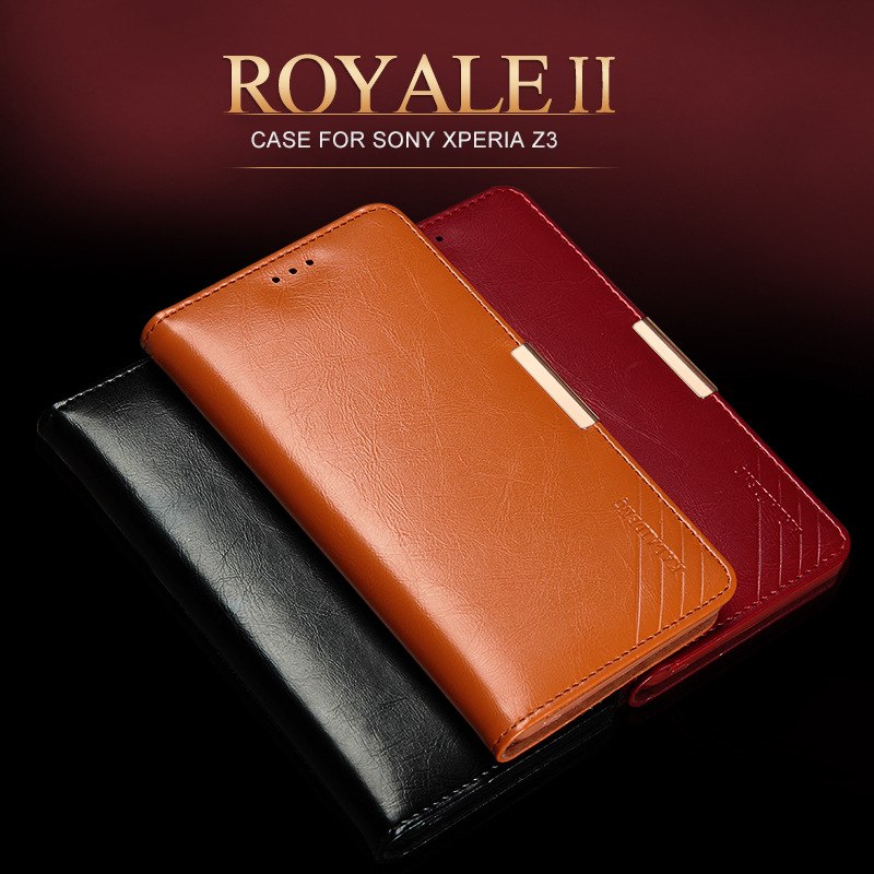 For Sony Xperia Z3 Case Genuine Leather