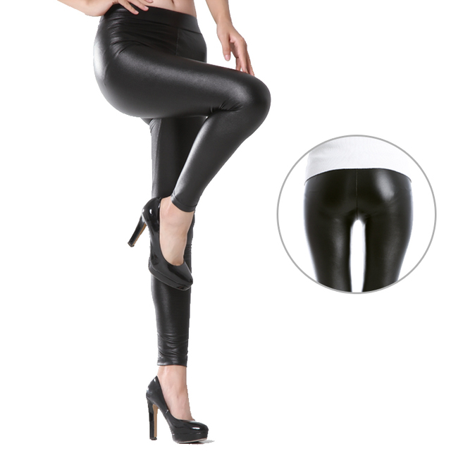 812c85bb8900d4 In the autumn of 2015 Korean wearing thin female LEATHER PANTS LEGGINGS PU skin  tight jeans Leather Leggings