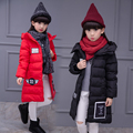 2017 winter child candy colors cotton-padded wadded jacket outerwear winter medium-long girl  thickening coat cold winter