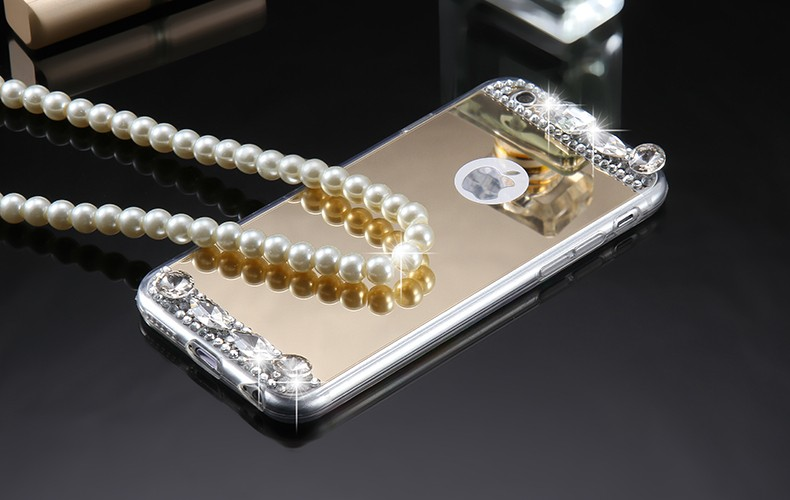 Dla iphone 6 7 case glitter lustro sprawach phone bag dla iphone 7 6 6 s plus 5S 5 se diamond case do samsung s8 plus s6 s7 krawędzi 3