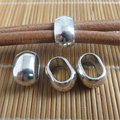 10pcs Antique Silver Oval Frugal Silde Spacer Fit Double 5mm Round Leather Cord