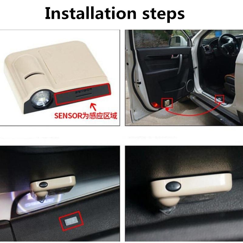 Image 5 - Car LED Door Welcome Light Projector Logo Laser Light For Suzuki SX4 Sedan Swift Grand Vitara Kizashi Splash Jimny Celerio IgnisDecorative Lamp   -