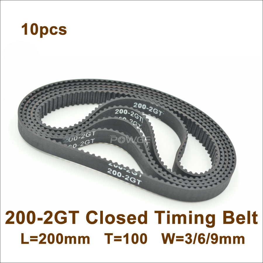 3GT 9mm Timing Belt GT2-3M Closed Loop