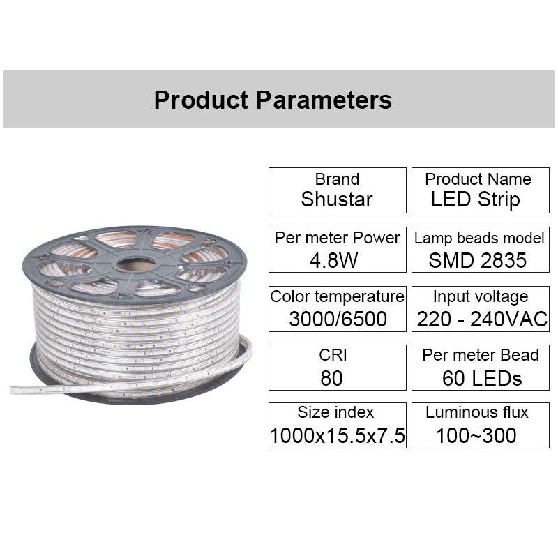 Tiras de Led para iluminação doméstica luz Marca do Chip Led : Epistar