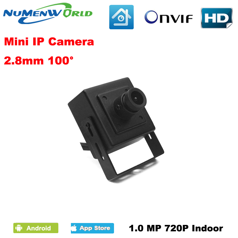 Mini IP camera 720P 1.0MP HD webcam CCTV Surveillance Video camera ONVIF P2P Motion Detection Indoor 2.8mm Wide angle lens view